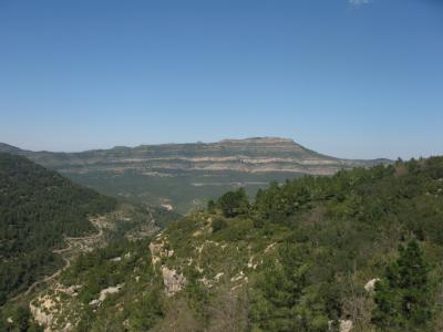 Barranc del Mátalo, amb el Caroig al fons.